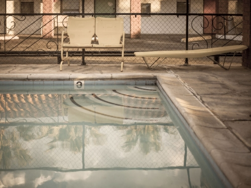 Pool Corner - spent saints - photographic print