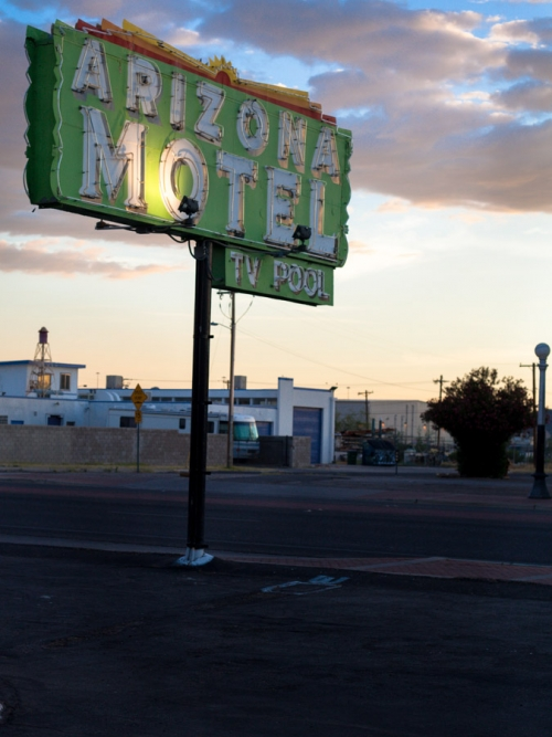 Arizona Motel - spent saints - photographic print