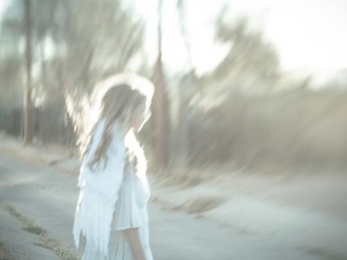 Angel On The Road - spent saints - photographic print